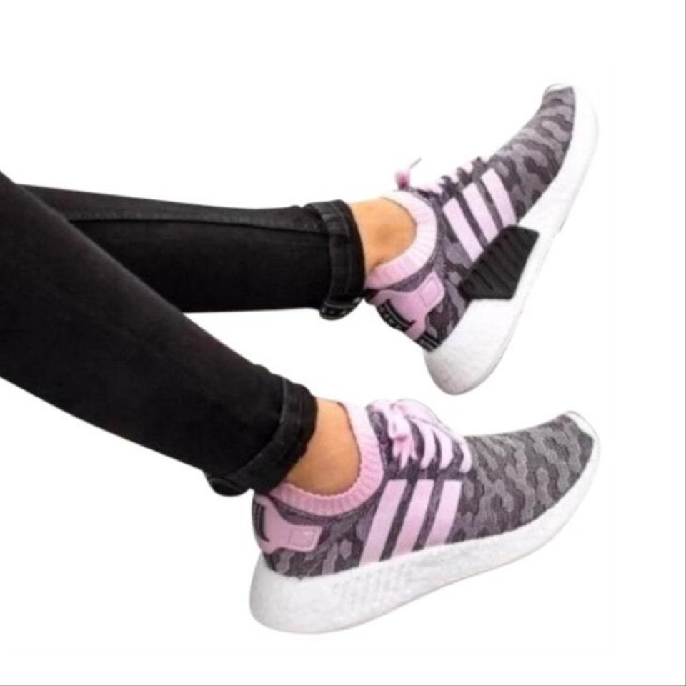 factory authentic 06c91 cfbb9 Pink Nmd R2 Primeknit Sneakers