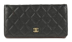 Chanel Chanel Quilted Caviar Yen Wallet