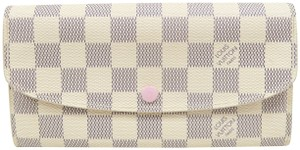Louis Vuitton Louis Vuitton White Emilie Damier Azur Canvas Wallet