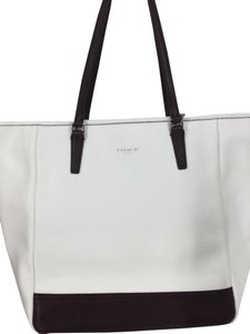 Coach Tote in Chalk with Brown