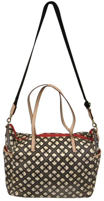 Item - Wilson Road Kaylie Baby with Changing Pad Red Black White Nylon Tote