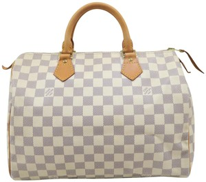 Louis Vuitton Lv Speedy Canvas 30 Tote in White