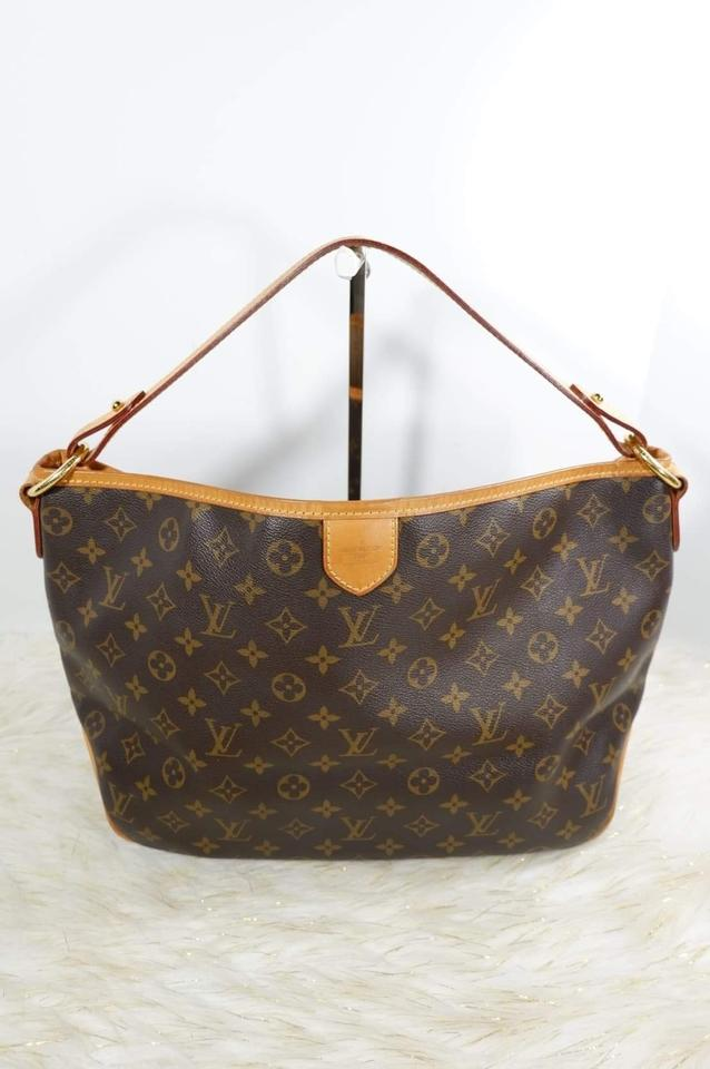 a406092ca29 Louis Vuitton Delightful Pm Monogram Brown Coated Canvas Hobo Bag