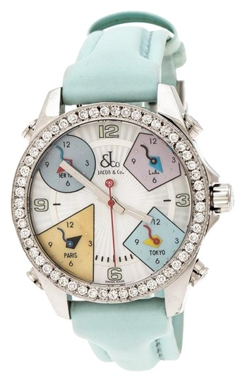 Preload https://img-static.tradesy.com/item/25698009/jacob-and-co-blue-multicolor-mother-of-pearl-diamond-five-time-zones-women-s-wristwatch-watch-0-1-540-540.jpg