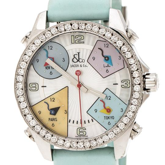 Jacob & Co. Multicolor Mother of Pearl Diamond Five Time Zones Women's Wristwatch Image 1