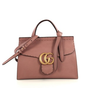 Gucci Marmont Top Handle Satchel in neutral