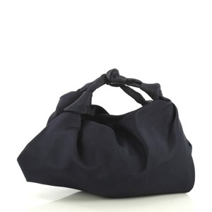 The Row Ascot Satin Satchel in blue