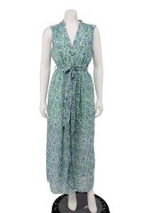 Green Maxi Dress by Disney Chiffon Floral Belted Maxi