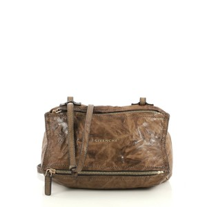 Givenchy Pandora Distressed Satchel in brown