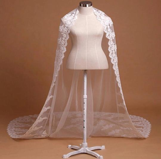 Long White Ivory 10ft-3m/15ft-4.5m Cathedral Bridal Veil Image 2