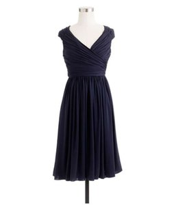 J.Crew Navy Blue Matilda Dress In Liquid Jersey Dress