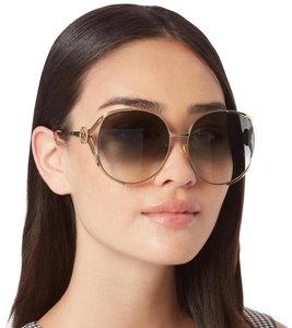 Gucci GUCCI GG0225S - 002 Brown Gold Sunglasses