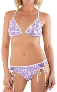 Just Cavalli New Women Logo Triangle String Two Piece Bikini Swimsuit US M