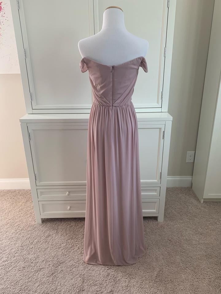 moderate cost new selection reliable reputation ASOS Mauve Off The Shoulder Bardot Bridesmaid Dusty Long Formal Dress Size  2 (XS)