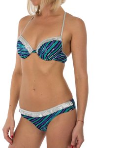 Just Cavalli New Women Lined Push-Up 2 Piece Bikini Swimsuit US S / EU 42