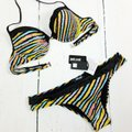 Just Cavalli New Women's Stripped Underwire Push-Up Two Piece Bikini Swimsuit Image 4
