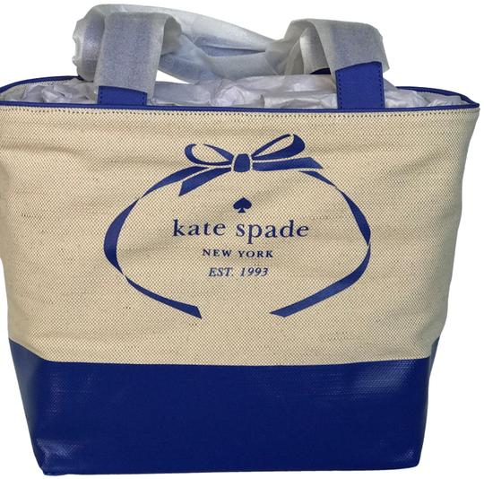 Kate Spade Tote in blue, natural Image 2