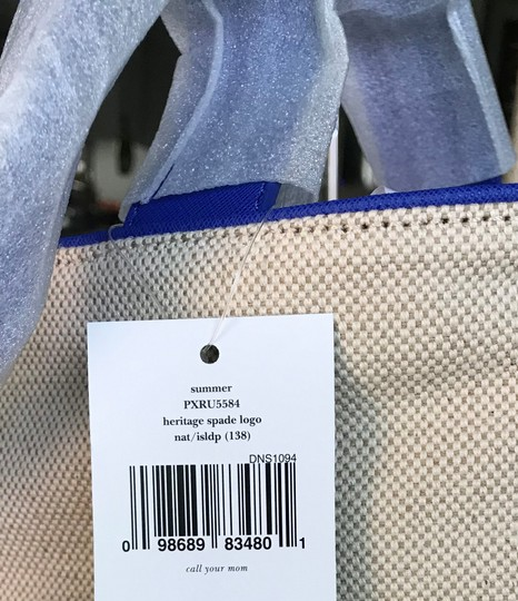 Kate Spade Tote in blue, natural Image 3