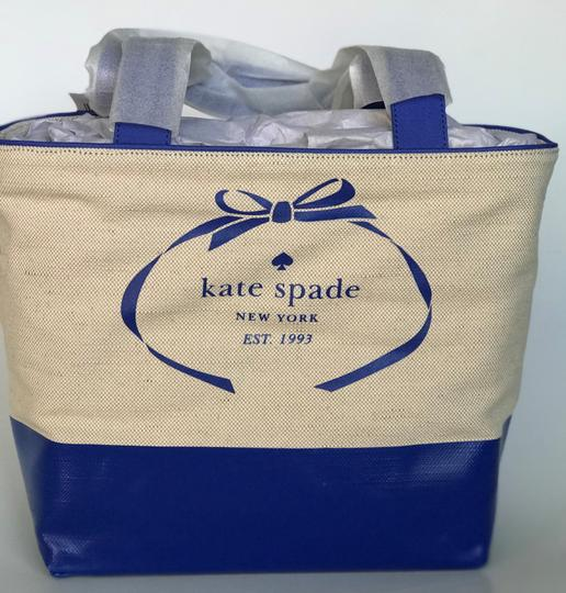 Kate Spade Tote in blue, natural Image 6