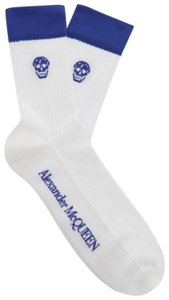 Alexander McQueen Skull-Intarsia Men's Cotton-Blend Sock L/XL