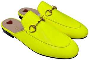 Gucci neon yellow Mules
