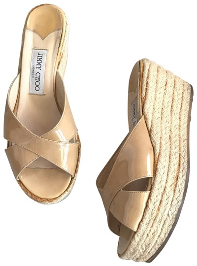 Preload https://img-static.tradesy.com/item/25699671/jimmy-choo-beige-paisley-nude-patent-leather-espadrille-slide-plaform-sandals-wedges-size-eu-37-appr-0-1-540-540.jpg