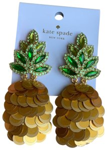 Kate Spade New Kate Spade By the Pool Pineapple Large Statement Earrings
