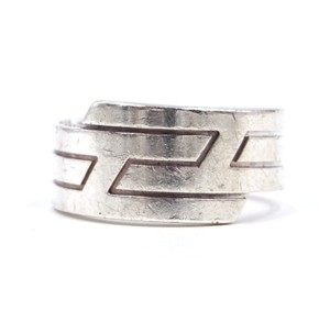 Hermès H stacked Logo Ring Silver AG 925 Size 51