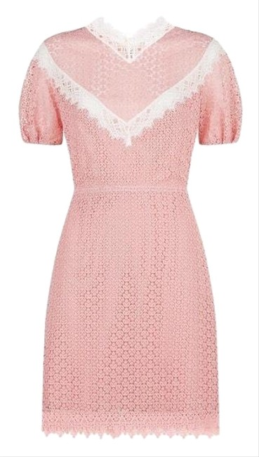 Item - Pink and White Lace Short Night Out Dress Size 4 (S)
