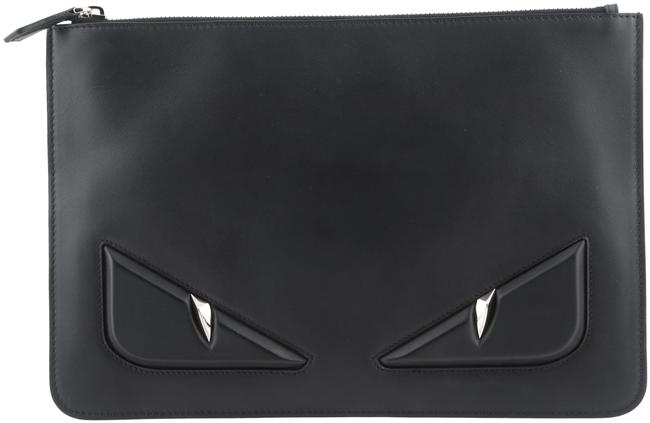 Item - Black Bug Eyes Leather Pouch Cosmetic Bag