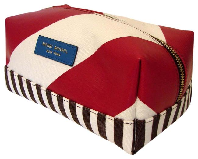 Item - Multicolor Centennial Stripe Canvas Cosmetic Bag