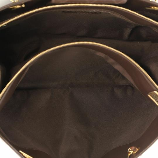 Chanel Vintage Lambskin Tote Overnight Brown Travel Bag Image 8