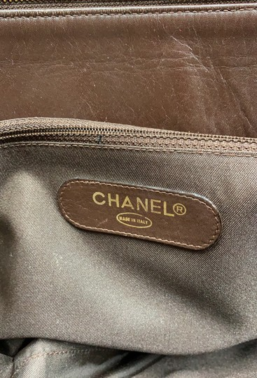 Chanel Vintage Lambskin Tote Overnight Brown Travel Bag Image 9