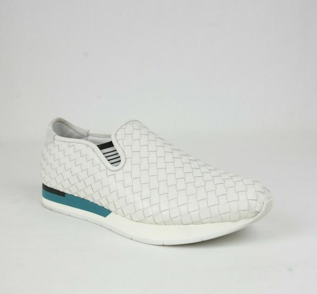 Item - White Woven Calf Leather Slip On Sneaker Eu 46.5/Us 13.5 390222 9117 Shoes