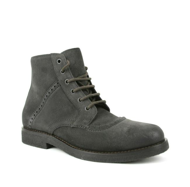 Item - Gray Suede Lace Up Perforations Sole Boots Eu 41/Us 8 474983 2015 Shoes