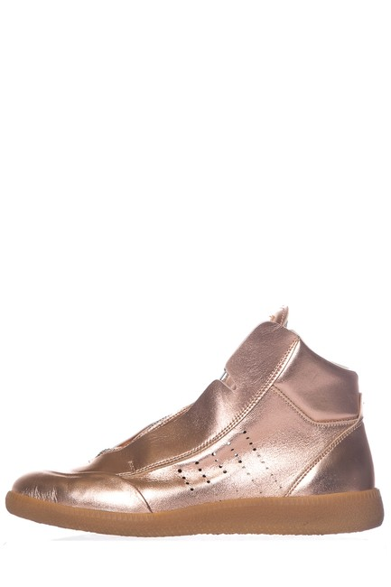 Item - Pink Rose Gold Leather Sneakers Size EU 37 (Approx. US 7) Regular (M, B)