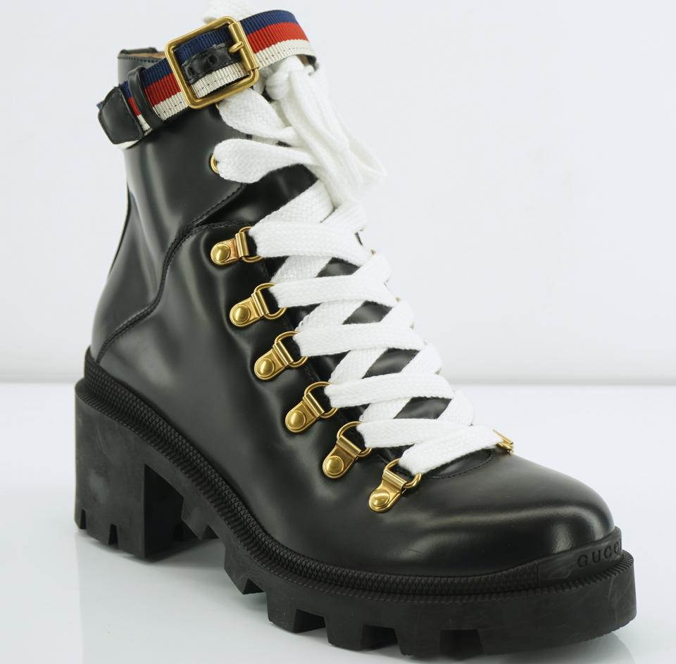 0ac4a5c44 Gucci Black Trip Lug Sole Combat Boots/Booties Boots/Booties Size EU ...