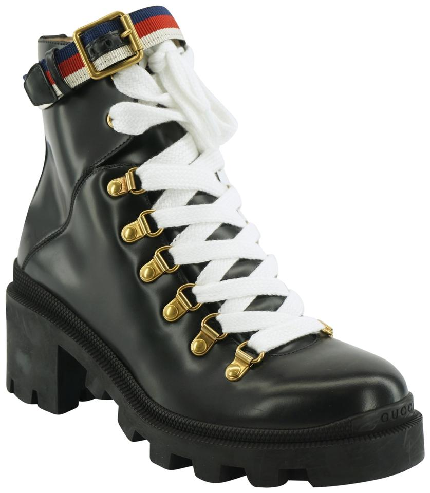 promo code 10c6d a18ef Gucci Black Trip Lug Sole Combat Boots/Booties Boots/Booties Size EU 37  (Approx. US 7) Regular (M, B) 28% off retail