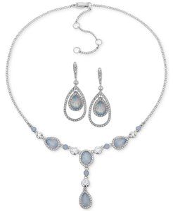 Givenchy Givenchy Drop Earrings + Crystal & Stone Lariat Necklace