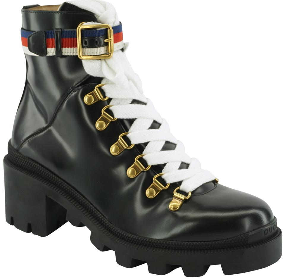 info for 02ed4 7e9a4 Gucci Black Trip Lug Sole Combat Boots/Booties Boots/Booties Size EU 39  (Approx. US 9) Regular (M, B) 28% off retail