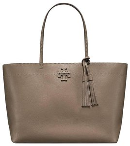 Tory Burch Tote in Taupe Brown/Green