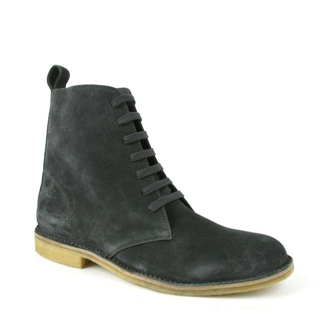 Item - Dark Gray Suede Side Zipper Lace Up Boot Eu 43.5/Us 10.5 427383 2015 Shoes