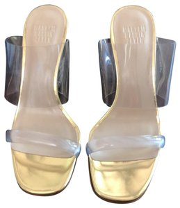 Maryam Nassir Zadeh Clear gold Wedges