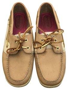 Sperry Tan & Gold Flats