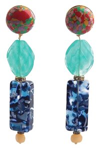 Lele Sadoughi BRAND NEW Lele Sadoughi Stacked Stone Earrings Howlite Crystals Bone