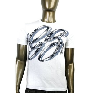Gucci White Horsebit Cotton Graphic Top Belt T 337660 9053 Shirt