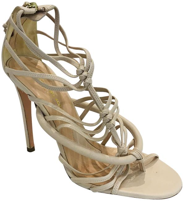 Item - Nude Gladiator Strappy Sandals Pumps Size EU 38.5 (Approx. US 8.5) Regular (M, B)