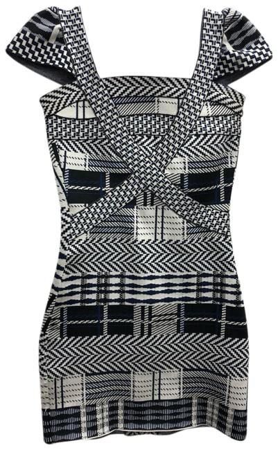 Item - Multicolor Printed Bandage Stretch Bodycon Rayon Night Out Dress Size 4 (S)