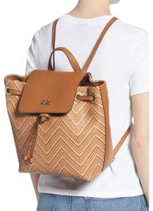 Michael Kors Woven Leather Chic Backpack