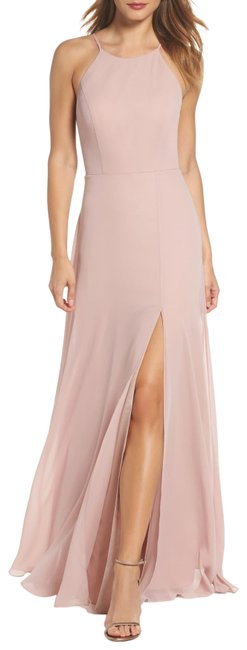 Item - Whipped Apricot Kayla Chiffon A-line Halter Bridesmaids Gown Long Formal Dress Size 6 (S)